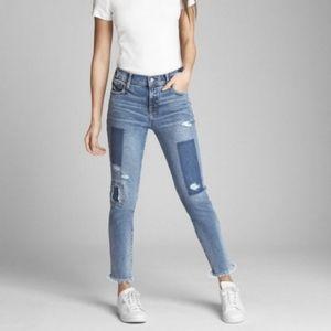 Gap Regular True Skinny Distressed Medium Wash Jeans sz 33